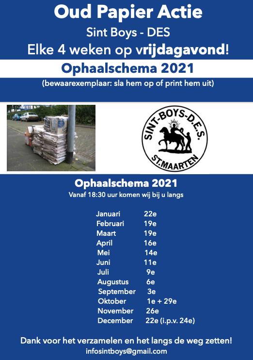 Ophaaldatums Oud Papier 2021